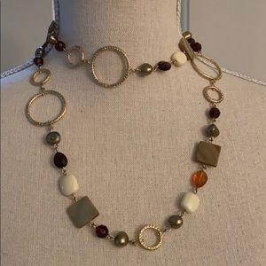 Lia Sophia metal and stone necklace (NIB)